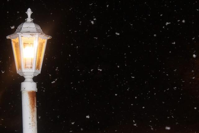 noční sníh
