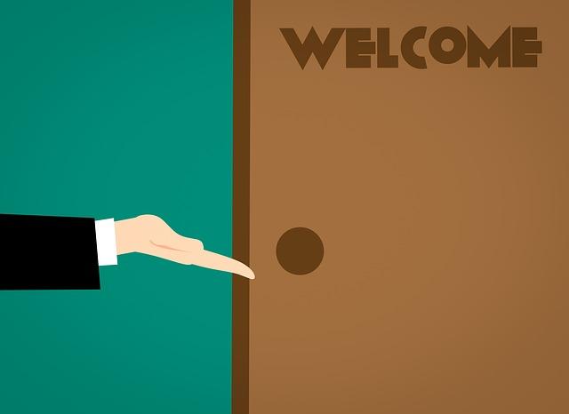 přivítání do vlastního domu